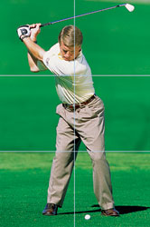 how to stop coming over the top in golf